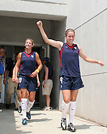30 July 2006: Heather O'Reilly (USA) (9) and Aly Wagner (USA) (10). The United States Women's National Team defeated Canada 2-0 at SAS Stadium in Cary, North Carolina in an international friendly soccer match.