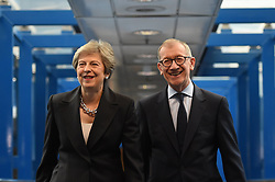 October 3, 2018 - Birmingham, Midlands, United Kingdom - Theresa May and husband Conservative Party Conference - Day Four. ICC Birmingham. (Credit Image: © Pete Maclaine/i-Images via ZUMA Press)