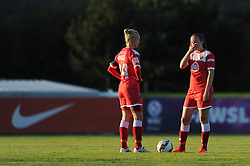 Caroline Weir of Bristol Academy cuts a dejected figure after Bristol Academy concede a goal - Mandatory byline: Dougie Allward/JMP - 07966386802 - 27/08/2015 - FOOTBALL - Stoke Gifford Stadium -Bristol,England - Bristol Academy Women FC v Oxford United Women - FA WSL Continental Tyres Cup