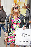 LONDON - April 29: Francesca Hull shopping in Oxford Street (Photo by Brett D. Cove)