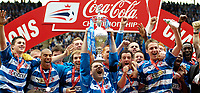 Photo: Ed Godden.<br /> Reading v Queens Park Rangers. Coca Cola Championship. 30/04/2006. Reading players celebrate with the Championship trophy.