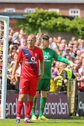 Luke Summerfield during the Friendly match between York City and Middlesbrough at Bootham Crescent, York, England on 11 July 2015. Photo by Simon Davies.