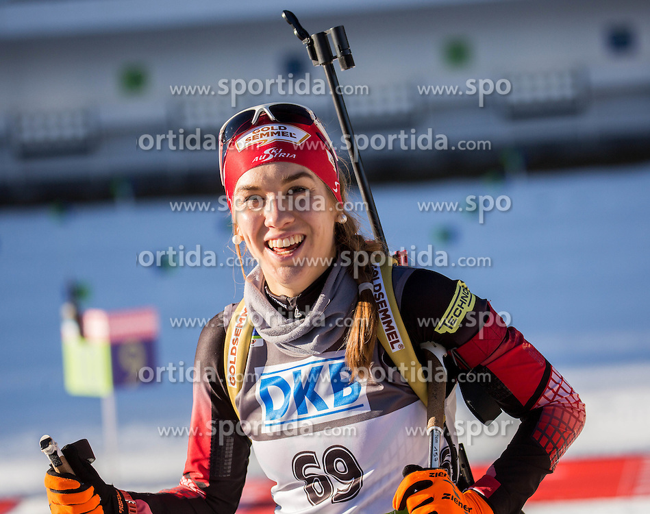 Fabienne Hartweger (AUT) during Women 7,5 km Sprint at day 2 of IBU Biathlon World Cup 2015/16 Pokljuka, on December 18, 2015 in Rudno polje, Pokljuka, Slovenia. Photo by Vid Ponikvar / Sportida