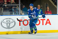 KELOWNA, BC - SEPTEMBER 29:  Brandon Sutter #20 of the Vancouver Canucks skates against the Arizona Coyotes at Prospera Place on September 29, 2018 in Kelowna, Canada. (Photo by Marissa Baecker/NHLI via Getty Images)  *** Local Caption *** Brandon Sutter