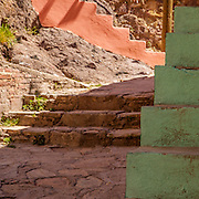 Staircases meander throughout the city of Guanajuato, Central Mexico