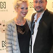 NLD/Amsterdam/20130205 - Modeshow Nikki Plessen 2013, Dennis Weening en partner Stella Maasen