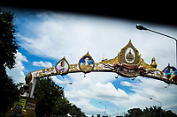 Portraits of Thailand's King Bhumibol Adulyadej adorn highways and other roads throughout the country, including in Sakon Nakhon province.