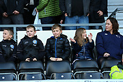 Derby County supporters during the EFL Sky Bet Championship match between Derby County and Blackburn Rovers at the Pride Park, Derby, England on 8 March 2020.