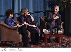 Authors Kate Grenville and Alan Hollinghurst discuss their work with moderator Linda Olsson during Writers and Readers week at the New Zealand International Arts Festival in Wellington.