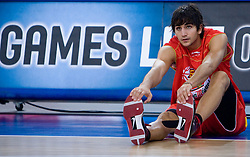 Ricky Rubio of Spain before the EuroBasket 2009 Group F match between Spain and Turkey, on September 12, 2009 in Arena Lodz, Hala Sportowa, Lodz, Poland.  (Photo by Vid Ponikvar / Sportida)