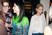 EMILY SHEFFIELD; PIXIE GELDOF; , Leaving dinner for Kate Phelan given by Alex Shulman and Mary Homer. Riding House Cafe. Great Titchfield st. London. 20 September 2011. <br /> <br />  , -DO NOT ARCHIVE-© Copyright Photograph by Dafydd Jones. 248 Clapham Rd. London SW9 0PZ. Tel 0207 820 0771. www.dafjones.com.