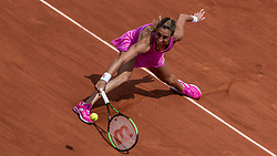 June 5, 2017 - Paris, France - Petra Martic of Croatia returns the ball to Elina Svitolina of Ukraine during the fourth round at Roland Garros Grand Slam Tournament - Day 9 on June 5, 2017 in Paris, France. (Credit Image: © Robert Szaniszlo/NurPhoto via ZUMA Press)