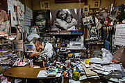 Kawasaki, November 21 2014 - Japanese artist Tatsumi ORIMOTO's 97-year-old mother at home.