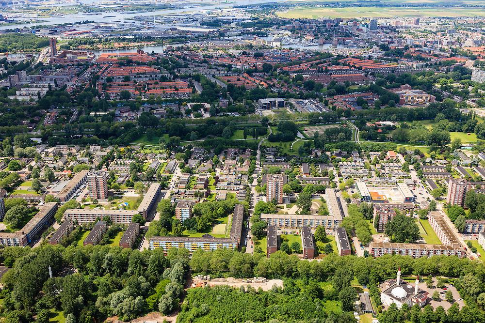 Nederland, Noord-Holland, Gemeente Zaanstad, 14-06-2012; Zaandam, de wijk Poelenburg gezien naar Oud-Zuid..luchtfoto (toeslag), aerial photo (additional fee required);.copyright foto/photo Siebe Swart