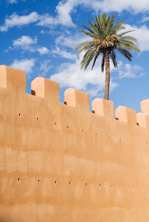 A section of the wall that encircles Taroudant, the city that lies to the south of Marrakech and is ofton called, the Grandmother of Marrakech.