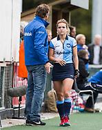 AMSTELVEEN -  Yentl Leemans (Hurley)  .Hoofdklasse competitie dames, Hurley-HDM (2-0) . FOTO KOEN SUYK