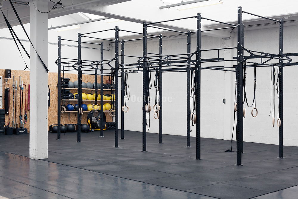 crossfit style empty gym space