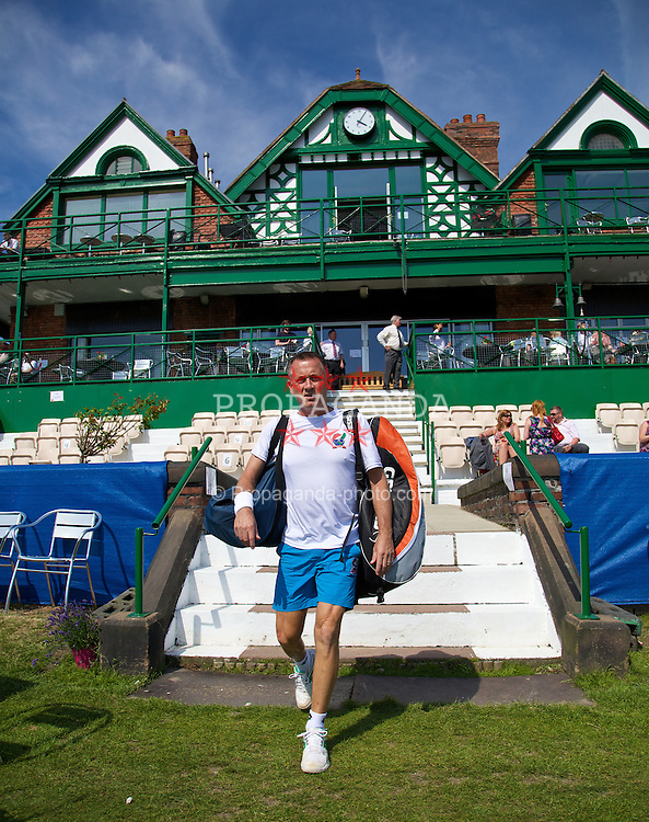 LIVERPOOL, ENGLAND - Sunday, June 22, 2014: Mikael Pernfors during Day Four of the Liverpool Hope University International Tennis Tournament at Liverpool Cricket Club. (Pic by David Rawcliffe/Propaganda)