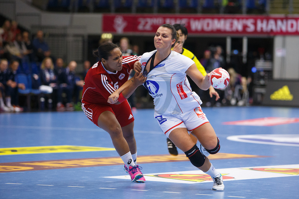 Frederikshavn, Danmark:<br /> IHF VM  H&aring;ndbold for kvinder Danmark 2015 <br /> Norge - Puerto Rico<br /> Fotograf: Morten Olsen<br /> <br /> Frederikshavn, Denmark:<br /> IHF Women&acute;s Handball World Championship Denmark 2015<br /> Norway - Puerto Rico<br /> <br /> Photographer: Morten Olsen