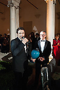 JAMES FRANCO; LUCA DINI, Italian Vanity Fair's 10 Anniversary celebration  hosted by Luca Dini. . Fondazione Cini, Isola di San Giorgio. Venezia.  1 September 2013