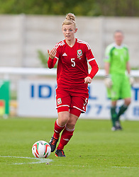 BANGOR, WALES - Thursday, May 8, 2014: Wales' Sophie Ingle in action against Montenegro during the FIFA Women's World Cup Canada 2015 Qualifying Group 6 match at the Nantporth Stadium. (Pic by David Rawcliffe/Propaganda)