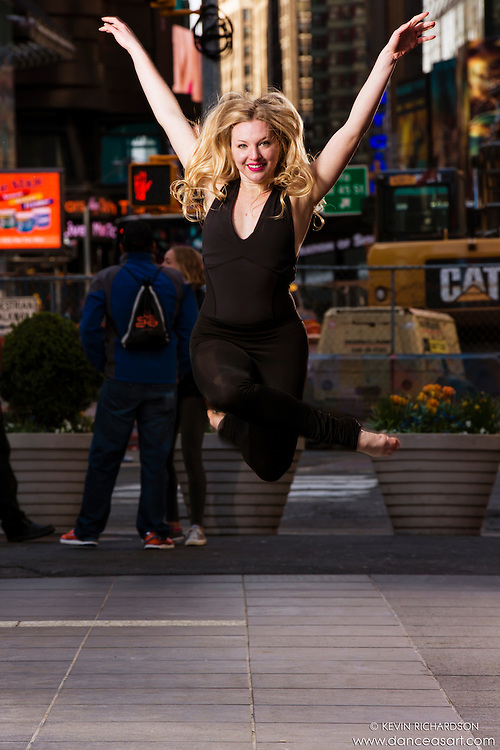 Dance As Art Times Square New York City Dance Photography with dancer Maddison Dawson