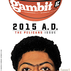 Gambit 2015 Cover - Anthony Davis - Pelicans