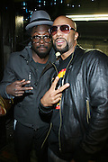 l to r: Will.I.AM and Common at The Common and Friends Benefit concert for The Common Ground Foundation held at  The House of Blues in Chicago on September 26, 2008..The Common Ground Foundation was created by Hip Hop artist, actor and children?s author Lonnie Rashid Lynn, known as ?Common?. Common?s social-conscience message serves as inspiration for equality, opportunity and hope among youth in underserved communities. The Foundation is committed to empowering youth in urban neighborhoods and providing life skills needed to achieve their dreams..