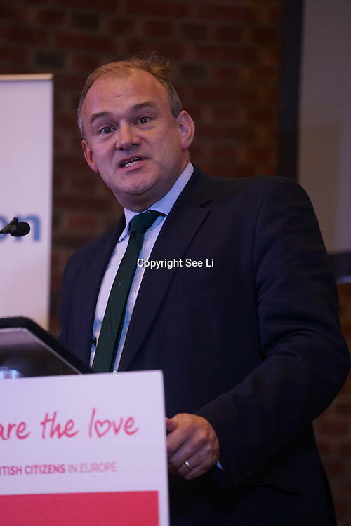 London, UK, 13th September 2017. Speaker Ed Davey MP, Mass lobby statements of support from a cross-party group of MPs , Hosts by British in Europe and the3million and partners talk about the campaign and the importance of guaranteeing citizens' rights. at Emmanuel Centre.