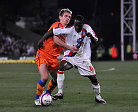 Photo: Tony Oudot/Richard Lane Photography. Crystal Palace v Reading. Coca-Cola Football League Championship. 21/03/2009. <br /> Kevin Doyle of Reading challenges Victor Moses of Palace
