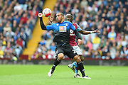Bournemouth forward Lewis Grabban (28) during the Barclays Premier League match between Aston Villa and Bournemouth at Villa Park, Birmingham, England on 9 April 2016. Photo by Jon Hobley.