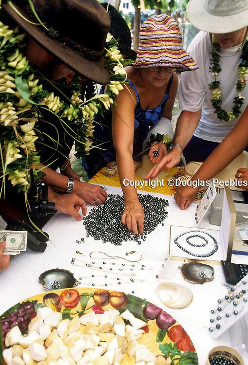 Black pearls, Tuamotu Islands, French Polynesia