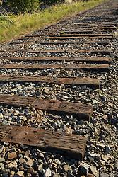 United States, Washington, Kirkland, railroad track on site of future Kirkland Corridor rail trail.