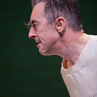 Picture shows : Dress photocall for the forthcoming National Theatre of Scotland production of 'Macbeth' - with Alan Cumming Opening tonight (13th June 2012) at The Tramway, Glasgow..Picture © Drew Farrell  ( Tel : 07721-735041 )...Macbeth by William Shakespeare?Directed by John Tiffany and Andrew Goldberg??Cast includes Alan Cumming, Myra McFadyen and Ali Craig..It opens at The Tramway, Glasgow - 13th June until 30th June 2012. It then moves across to The Rose Theater, Lincoln Center Festival, New York running from 5th July until 14th July 2012...***Payment at all times ***.??This radical re-imagining of Shakespeare's Scottish play is set in a psychiatric unit, focusing on a solitary patient who is channeling the story of Macbeth.??CCTV cameras capture the patient's every move as he is inhabited in turn by each of the characters and the clinical tiled walls of the unit come to life in a visually stunning multi-media theatrical experience, where nothing is as it seems.??Multi award-winning actor Alan Cumming returns to Glasgow for a virtuoso performance in this bold re-imagining of Shakespeare's chilling tale of desire, ambition, and the supernatural. .                         .John Tiffany and Alan Cumming (who made his stage debut as Malcolm in Macbeth in 1985) originally worked together on the National Theatre of Scotland's production of Euripides' The Bacchae which took the Edinburgh International Festival by storm in 2007 and subsequently toured in 2008 to Aberdeen, Inverness and the Lincoln Center Festival in New York. Andy Goldberg runs the Shakespeare Gym in New York City and was staff director on the National Theatre of Scotland's production of Black Watch in New York, when he and John Tiffany first started collaborating creatively