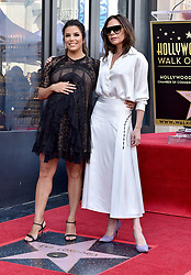 Eva Longoria honored with star on the Hollywood Walk of Fame. Hollywood, California. Pictured: Felicity Huffman, Eva Longoria, Anna Faris, Ricky Martin. EVENT April 16, 2018. 16 Apr 2018 Pictured: Eva Longoria,Victoria Beckham. Photo credit: AXELLE/BAUER-GRIFFIN/MEGA TheMegaAgency.com +1 888 505 6342