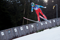 Pia Mazi from Slovenia during Qualification Round at Day 2 of FIS Ski Jumping World Cup Ladies Ljubno 2018, on January 27, 2018 in Ljubno ob Savinji, Slovenia. Photo by Urban Urbanc / Sportida