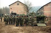 War in Bosnia, Danish soldiers at the camp in Doboj.Photo:Thomas Sjørup © 2006
