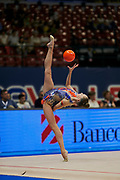 """Salos Anastasiia during the """"1st Trofeo Citta di Monza"""" tournament. On this occasion we have seen the rhythmic gymnastics teams of Belarus and Italy challenge each other. The Bilateral period was only June 9, 2019 at the Candy Arena in Monza, Italy."""