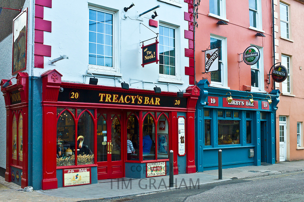 Treacy's Bar and Kirby's Bar in Youghal, popular tourist town in County Cork, Ireland