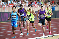 Morhad Amdouni of France competes in 1500m Men during the International Athletics Meeting Herculis, IAAF Diamond League, Monaco on July 17, 2015 at Louis II  stadium in Monaco, France - Photo Jean-Marie Hervio / KMSP / DPPI