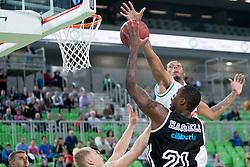 Franklin Hassell #21 of Cimberio Varese during basketball match between KK Union Olimpija and  Cimberio Varese (ITA) of 1st Round of Regular season of EuroCup 2013/2014 on October 16, 2013, in SRC Stozice, Ljubljana, Slovenia. (Photo by Urban Urbanc / Sportida)