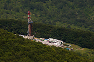 Monte Enoc, 13/06/2015: Postazione ENI Monte Enoc 10 - Drilling site ENI Enoc 10.