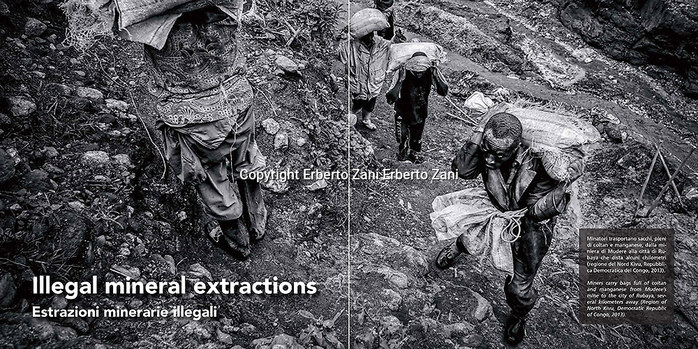 Black World is a reportage on illegal mineral extractions created as a tryptych: three continents (South America, Africa, Asia), three countries (Colombia, D.R.Congo, India), three illegally extracted minerals (gold, coltan, coal) and three causes that lead to criminality. In Colombia, in a remote area of Antioquia, a community of gold miners has been struggling to fight for its own existence for years, asking the government to legalize the mine. This request amidst the dangers of working underground with inadequate equipment and under definite threat of being killed by paramilitary groups. In D.R.Congo, where the absence of government, the division of power between different military groups and the intrusion of shameless and unethical foreign interests have caused a complete military arming of the economy and a real marketing of violence. In this chaos the natural resources, particularly coltan, become oxygen for the smouldering embers of war. In India, where the population of the small village of Bokohapadi is forced to steal its own coal found underground. This, because of industrial-scaled extraction projects run by government-aided companies, categorically without acknowledging or compensating the rightful owners of the land. <br /> <br /> 22x22 cm, 96 pages, 88 photographs (2015)<br /> <br /> PX3 - Prix de la Photographie Paris 2016: Gold medal in Professional Book Documentary and Bronze medal in Professional Book People for &quot;Black World&quot;. Honorable mentions for &quot;Black World&quot; series and &quot;Illegal gold in Colombia&quot;.<br /> <br /> IPA - International Photography Awards 2016: 2nd place, category Book Documentary. Dhaka and Chittangong: every year more than 200 big vessels are dismantled. Most of the vessels are totally dismantled, and others are repaired with second hand parts and sold for use limited only to Bengali waters. Aftermath is a research on the vessels cemeteries, but also on the conditions of the man, the daily life of work
