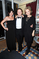 Left to right, ELIZA LUMLEY, HAL CAZALET and LARA CAZALET at a cabaret evening at Bellamy's, Bruton Place, London on 22nd March 2010.