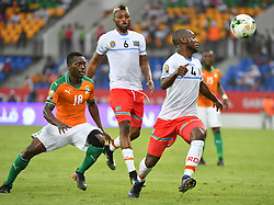 January 20, 2017 - GABON - A. Traore - Cote Ivoire  vs J. Ikoko - Congo DR (Credit Image: © Panoramic via ZUMA Press)