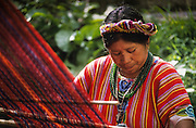 Quetzaltenango: Zunil, the Mayan weawers cooperative.