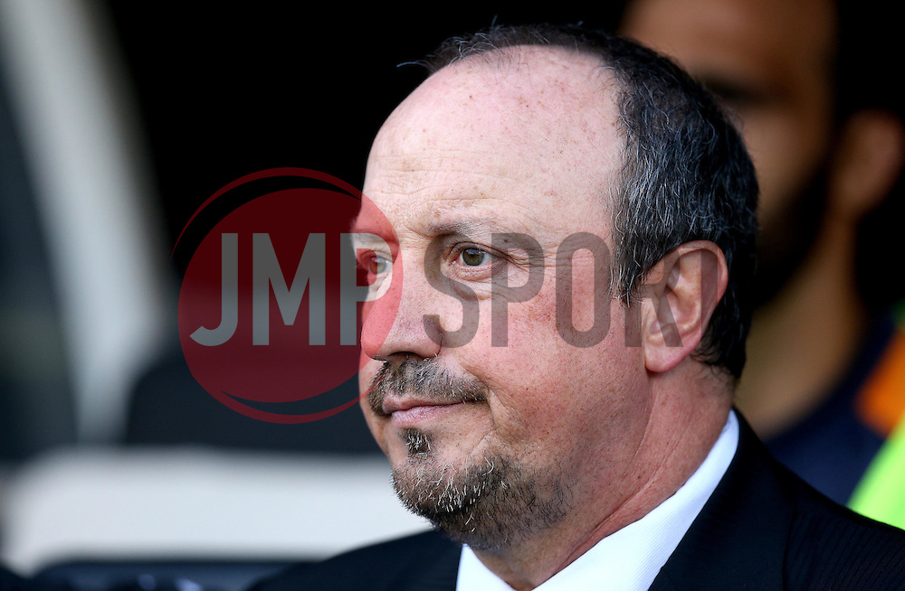 Rafa Benitez manager of Newcastle United takes his seat ahead of his sides first Sky Bet Championship fixture of the season against Fulham - Mandatory by-line: Robbie Stephenson/JMP - 05/08/2016 - FOOTBALL - Craven Cottage - Fulham, England - Fulham v Newcastle United - Sky Bet Championship