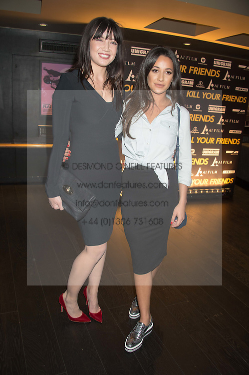 Left to right, DAISY LOWE and ROXIE NAFOUSI at the Al Films and Warner Music Screening of Kill Your Friends held at the Curzon Soho Cinema, 99 Shaftesbury Avenue, London on 27th October 2015.