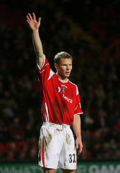 London, England - Saturday, January 13, 2007: Charlton Athletic's new signing Ben Thatcher against Middlesbrough during the Premiership match at the Valley. (Pic by Chris Ratcliffe/Propaganda)