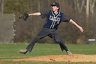 Goshen, New York - A John S. Burke Catholic pitcher winds up against Fallsburg in a varsity  baseball game on April 21, 2014.